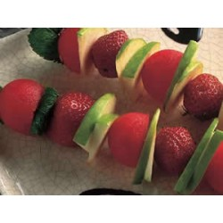Brochette de pancake aux fruits