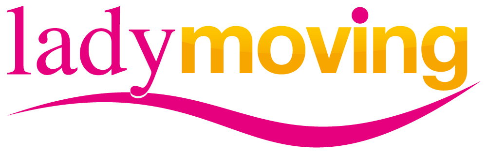 logo lady moving